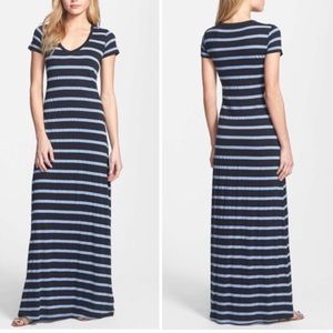 👗 Splendid jersey stripe t-shirt maxi dress